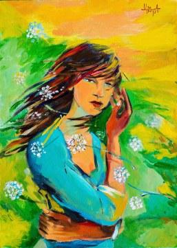 Момичето на слънчевия вятър / Girl of solar wind https://artgalleryflower.wordpress.com/solar-wind/